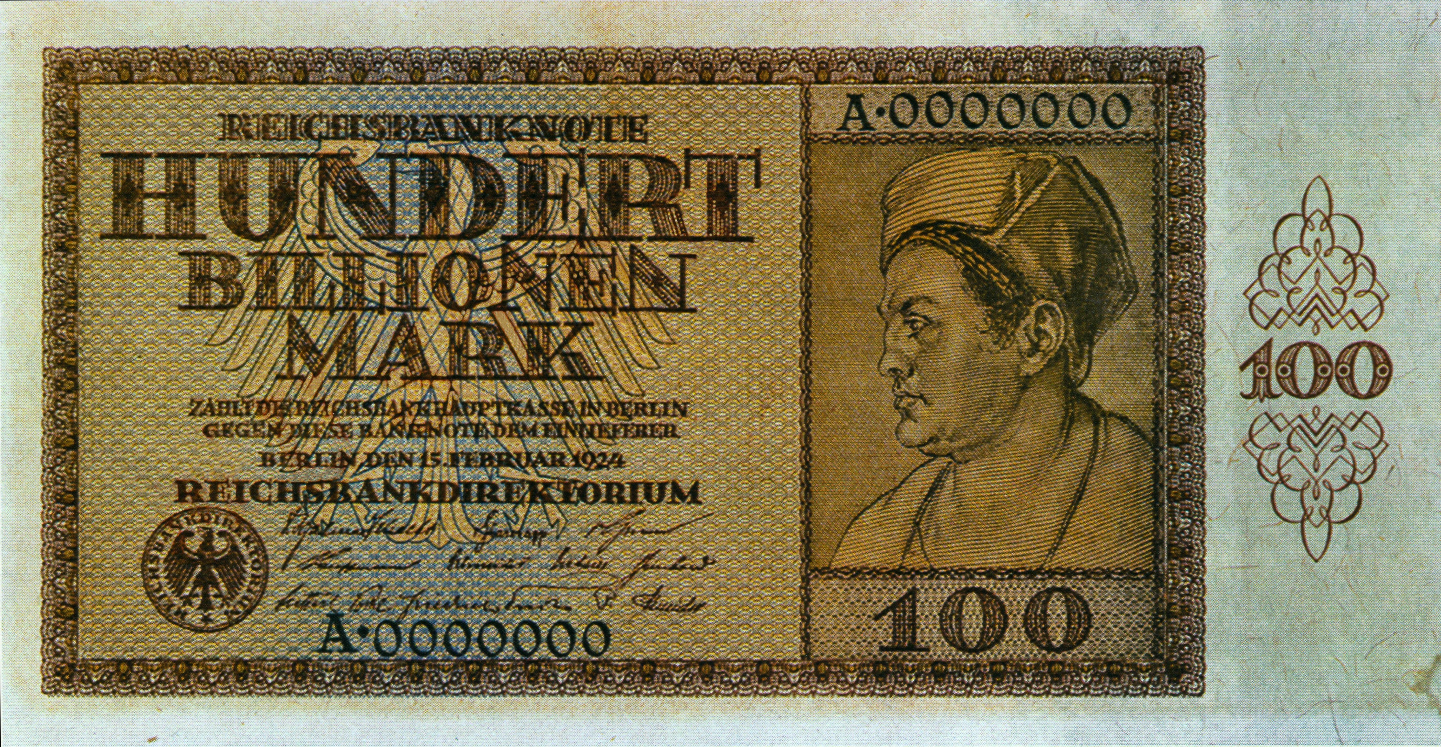 Hyperinflation 100 Billionen Mark
